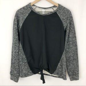 Fabletics Contrast Tie Front Sweatshirt |J18